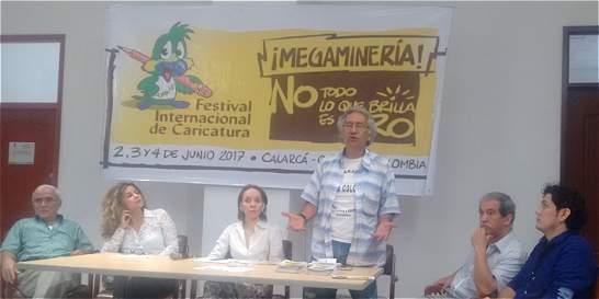 Caricaturistas protestarán contra la megaminería en Calarcá, Quindío