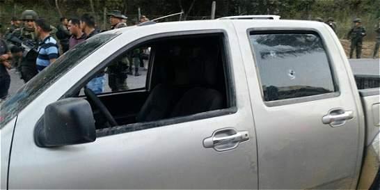 Atacan caravana en la que iba el Gobernador de Norte de Santander