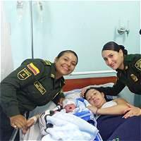 Dos patrulleras atendieron un parto en el municipio de Calarcá