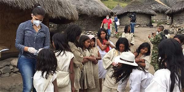 Los Koguis están recibiendo atención de equipos médicos de la Secretaria de Salud del Cesar.
