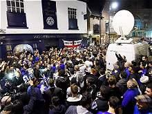 Así celebran los hinchas del Leicester