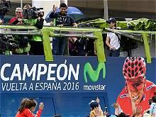 Nairo Quintana celebró en Bogotá el título de la Vuelta a España