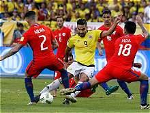 Las mejores imágenes que dejó el partido entre Colombia y Chile