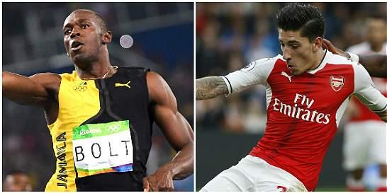 Futbolista del Arsenal reta a Usain Bolt a una carrera