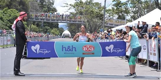 Angie Orjuela ganó la Carrera de la Mujer en Bogotá