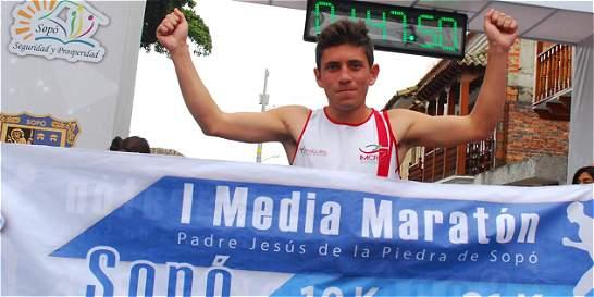 David Lancheros y Paola García, ganadores de la Media Maratón de Sopó