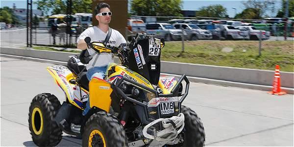 El piloto colombiano Christian Cajicá Pinto, el único nacional en la categoría de Cuadriciclos del Dakar 2015.