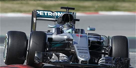 Nico Rosberg fue el más rápido en los test de Montmeló