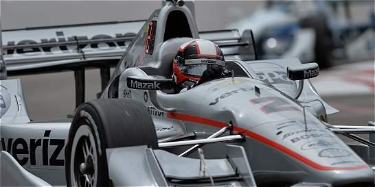 Juan Pablo Montoya ganó la primera carrera de la IndyCar