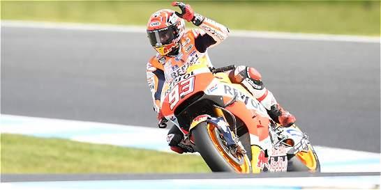 Marc Márquez saldrá de primero en el GP de Australia
