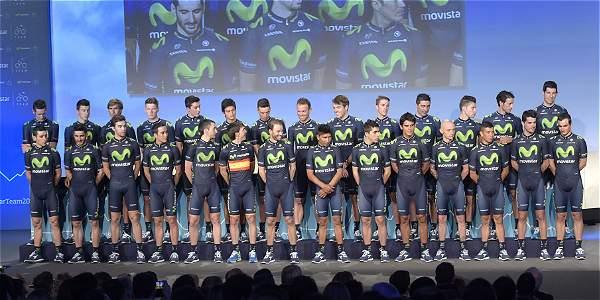 Estos son los 28 pedalistas del Movistar para el 2015.