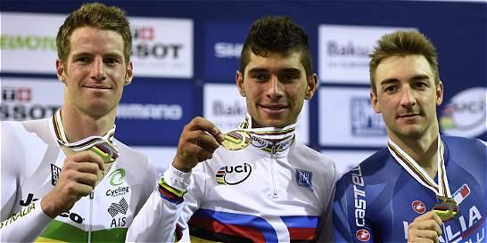 Fernando Gaviria, campeón mundial de pista