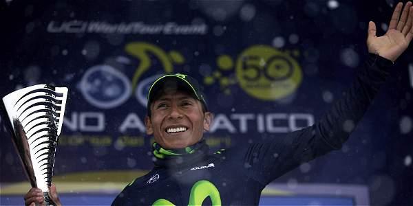 Nairo Quintana, líder de la Tirreno-Adriático.