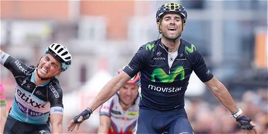 Valverde logró su tercer triunfo en la clásica Lieja-Bastoña-Lieja