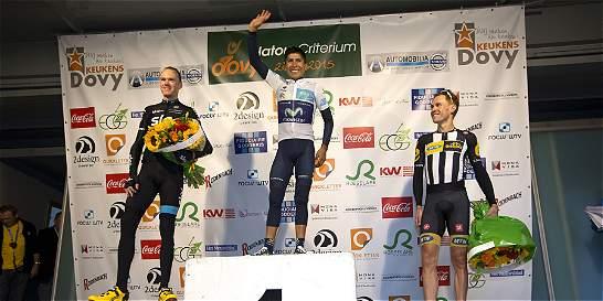 Nairo Quintana le ganó a Chris Froome en Bélgica