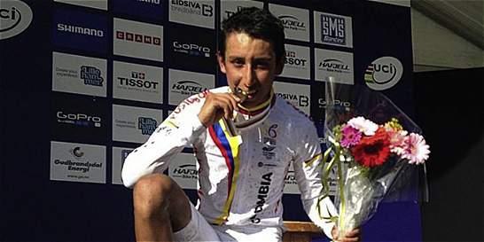 Colombiano Egan Bernal, bronce en Mundial de Ciclomontañismo
