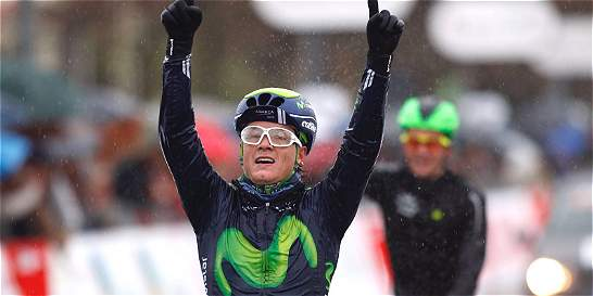 Carlos Betancur ganó la segunda etapa de la Vuelta a Asturias