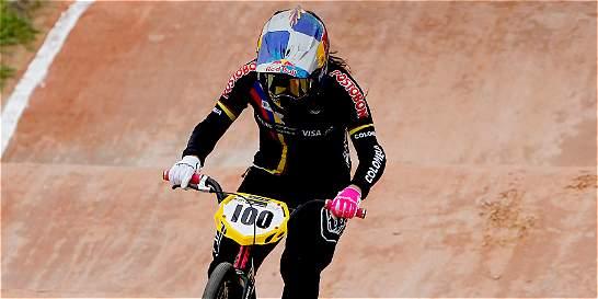 Mariana Pajón, bronce en la 'crono' del mundial de BMX en Medellín