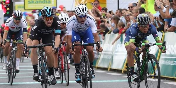 Fernando Gaviria, segundo en la Vuelta a Polonia