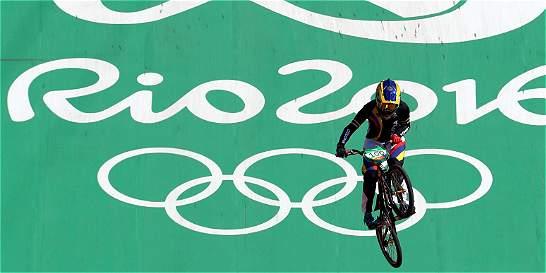 Mariana Pajón terminó de primera en la eliminatoria del BMX