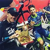 Froome y Chaves cerraron la temporada 2016 con pizza
