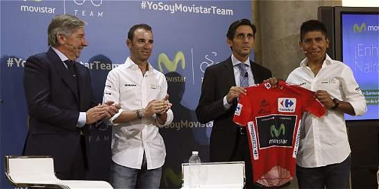Movistar da nuevo respaldo a Nairo y le renueva contrato hasta el 2019