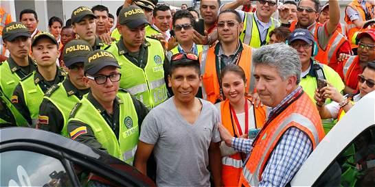 A Nairo Quintana le llegó la hora de celebrar con su pueblo