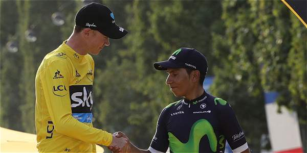 Chris Froome y Nairo Quintana.