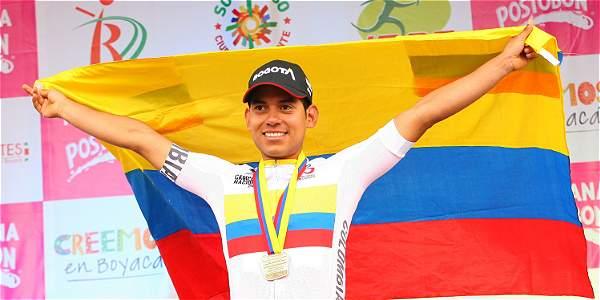 Édwin Ávila, ciclista colombiano.