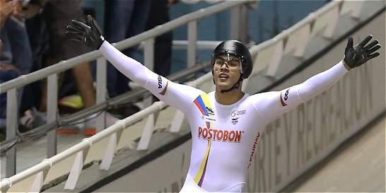 Fabián Puerta, oro en el keirin de la Copa Mundo de pista