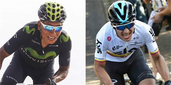 Nairo Quintana y Sergio Henao.