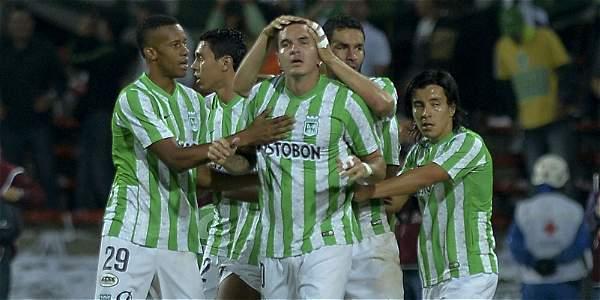 Jugadores de Atlético Nacional.