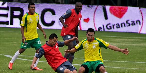 Momento del partido entre Quindío y Real Cartagena.