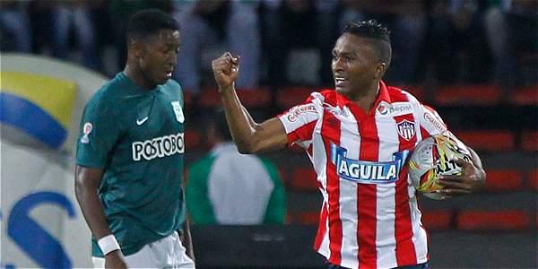 Atlético Nacional contra Junior de Barranquilla en la fecha 16 de la Liga.