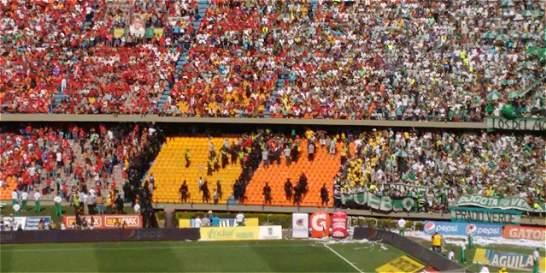 Peleas entre hinchas de Nacional y DIM empañaron la jornada de paz