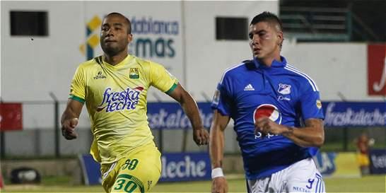 Millonarios salvó un punto en Floridablanca: 1-1 contra Bucaramanga