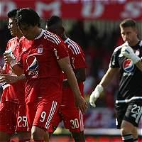 América sigue sin despegar en el Torneo: empató 1-1 con Real Santander