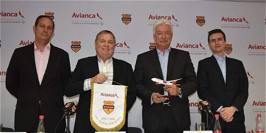 Avianca será la aerolínea oficial del Fútbol Profesional Colombiano