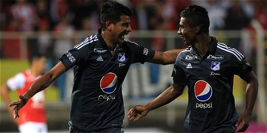 Millonarios se quedó con el clásico capitalino: derrotó 1-2 a Santa Fe
