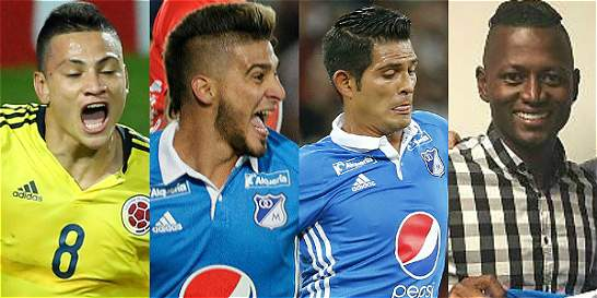 Zapata, Kouffaty, Riascos y Silva, cartas de Millos para volver al gol