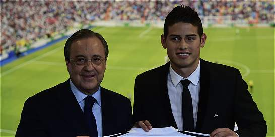 'James nos llevará hacia nuevos títulos': presidente de Real Madrid