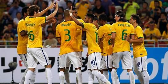 Neymar anotó los cuatro goles de Brasil en amistoso contra Japón