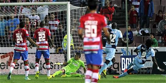 Jeison Murillo, titular en la derrota 0-1 del Granada contra Rayo