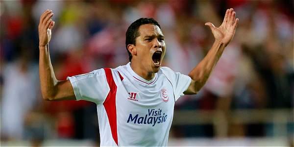 Carlos Bacca, goleador colombiano del Sevilla.