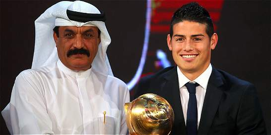 James ganó premio a Futbolista Revelación del 2014 en los Globe Soccer