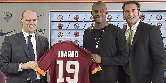 Ibarbo ya fue presentado como nuevo jugador de AS Roma