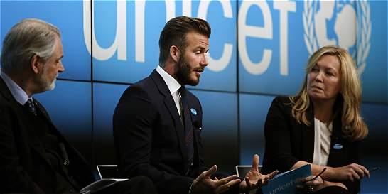Beckham y Unicef presentan programa para ayudar a jóvenes vulnerables