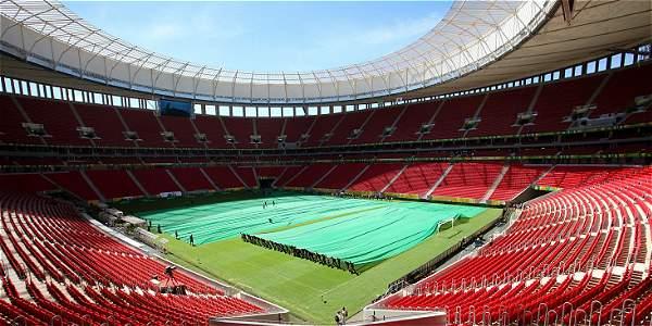 Estadio de fútbol Mané Garrincha en Brasilia.