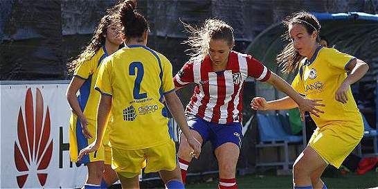 Nicole Regnier anotó su primer doblete con la camiseta del Atlético
