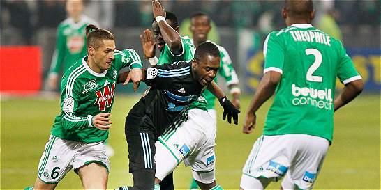 Marsella empató 2-2 contra Saint Etienne y ahora es tercero en Francia